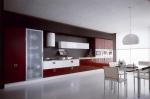 Кухненски шкафове по поръчка МДФ червен гланц