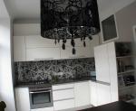 Проект на кухня ПДЧ бяла с принт гръб