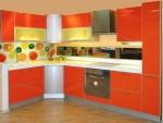 Кухненски шкафове МДФ оранжев гланц
