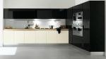 Кухня по поръчка ПДЧ бяло и черно гланц