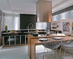 Проект на кухня ПДЧ с цвят тъмен орех