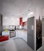 Кухненски мебели бели ПДЧ