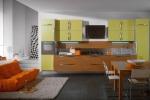 Проект на кухня ПДЧ мат в патешко жълто