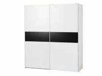 Черно-бял гардероб с две плъзгащи врати