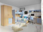 Уникални модели на детски стаи с двуетажни легла