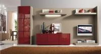 секция с червено стъкло