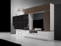 ТВ секция бяло черно