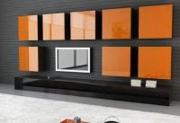 секция със оранжево стъкло
