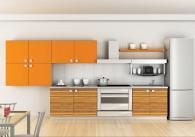 Пъстра кухня в оранжево