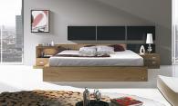Спалня дъб и черен МДФ мат