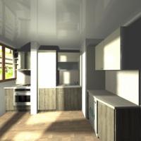 Кухня с вграден хладилник ПДЧ