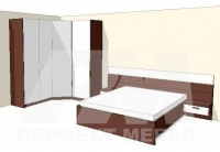 Спалня с ъглов гардероб