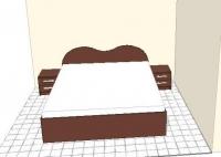 Легло с нощни шкафчета