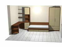 Спалня от пдч в бежаво и кафяво
