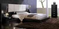 Спалня в бяло и черно