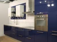 Кухня в синьо и бяло