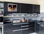 Кухня с вграден телевизор