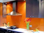 Кухня в оранжево