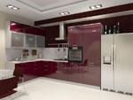 Кухня от МДФ виолетово