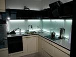 Кухня със светещо стъкло