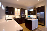 Кухня в бяло и венге