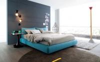 Тапицерия на легло в синьо