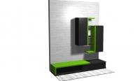 Секция в зелено и черно