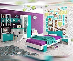 Мебели за детска стая Куин