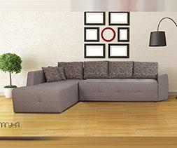 Ъглов диван с две ракли Лагуна
