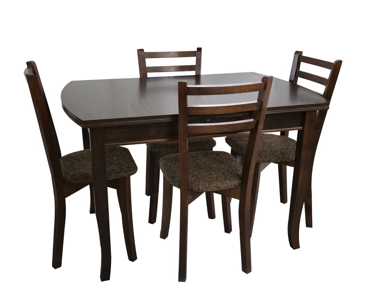 Трапезна Разтегателна маса с 4 стола - 80/120+30/75 см.