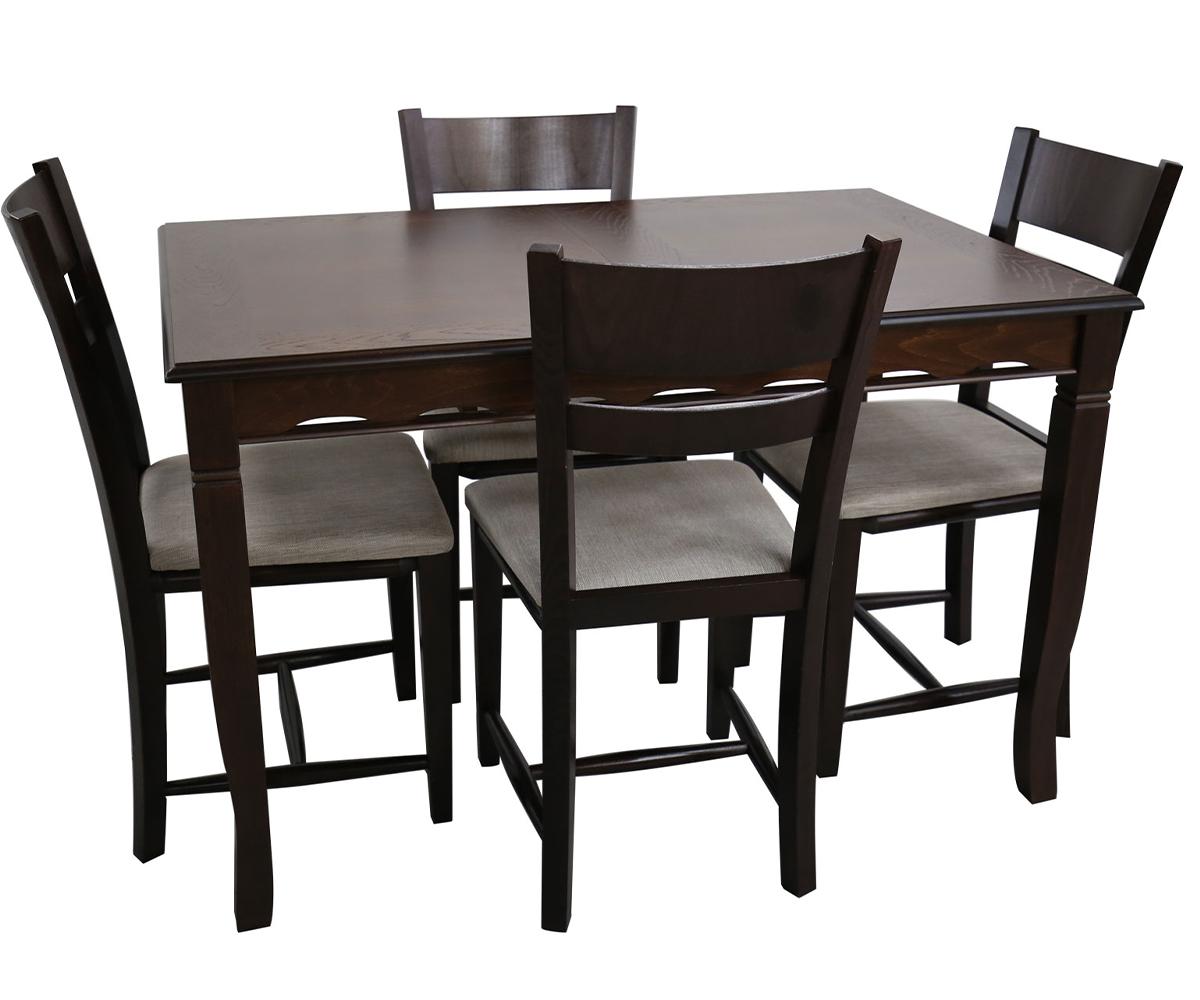 Трапезна разтегателна маса с 4 стола 80 / 120+40 / 75 см.