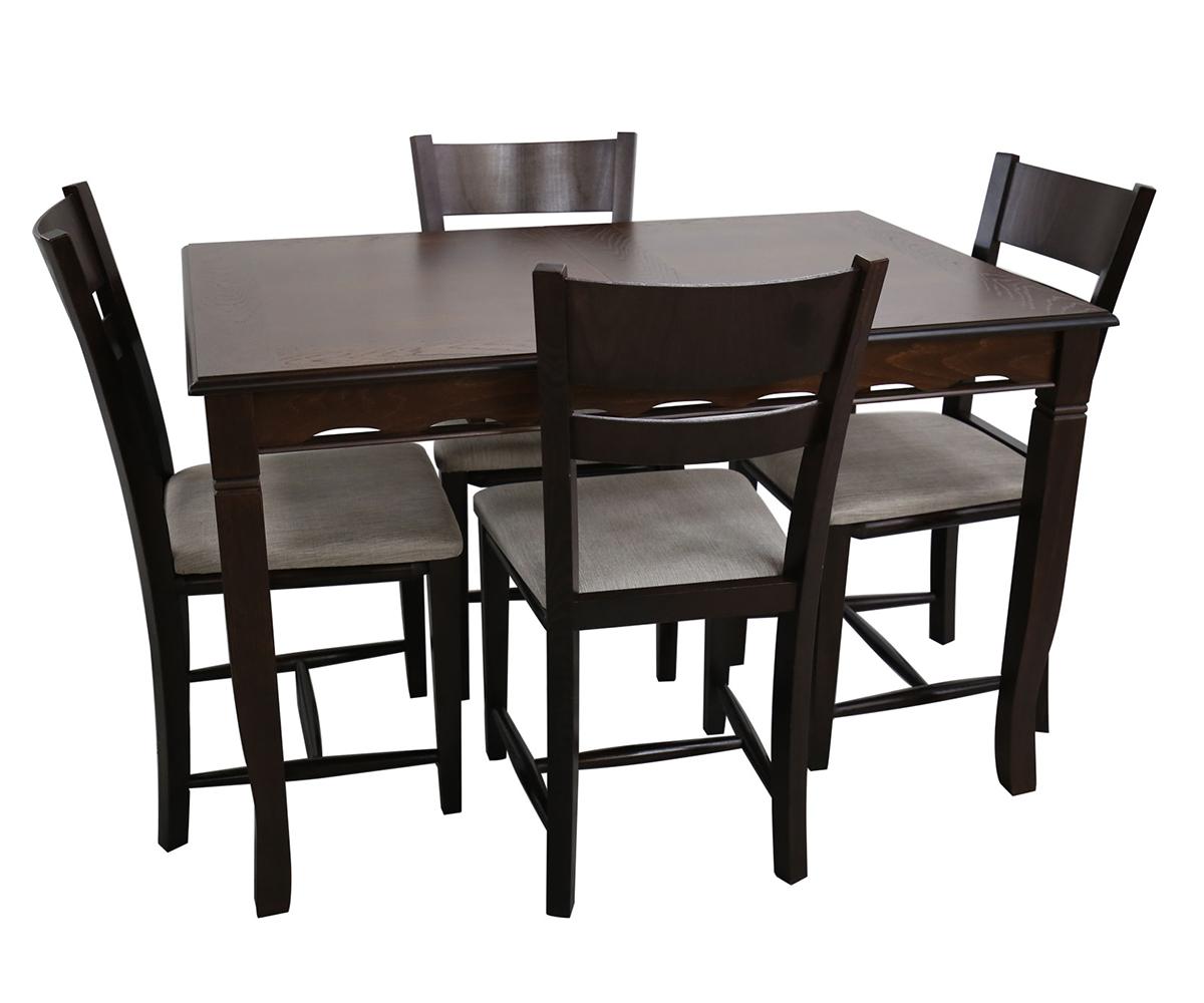 Комплект за трапезария маса с 4 стола 90 / 140+40 / 75 см.