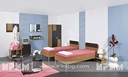 Обзавеждане за хотелска стая с единични легла Малага