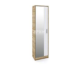 Еднокрилен гардероб с огледална врата Сити 4043