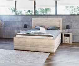 Спално легло с нощни шкафчета Сити 7031