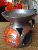 Арома-лампа ръчна авторска керамика, h-15см.