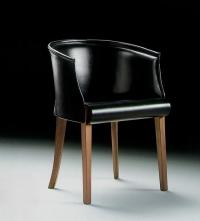 Дизайнерски черен фотьойл