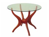 Кръгла трапезна маса със стъкло