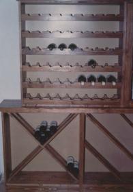 Стелажи за вино от масив -