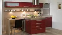 Кухня по поръчка в червено