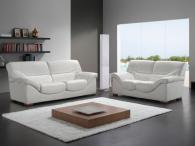 Комплект дивани от естествена кожа в бяло