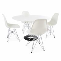 Сет маса Cyclone & 4 стола Eames DSR