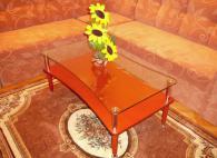 Холова маса стъклен плот