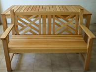 Градинска пейка с маса