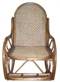Люлеещ се ратанов стол SWIVEL