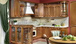 луксозни  кухни масив орех с плавни механизми
