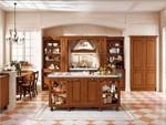 висококласни кухни орех масив с остров стилни