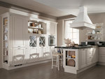 комфортни ъглови кухни масив крем солидни