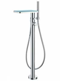 Смесител за вана и душ с подово захранване