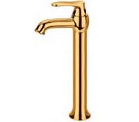 Смесител за мивка - висок със златно PVD покритие